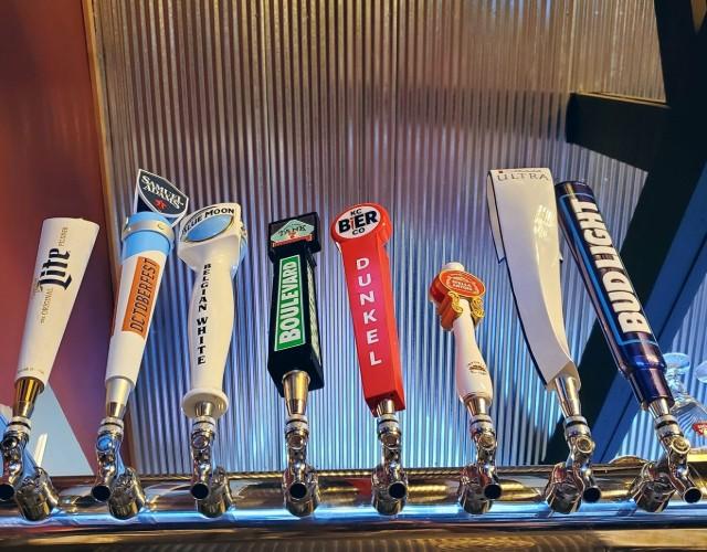 Beers on draft.