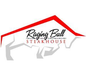 Raging Bull Steakhouse logo.